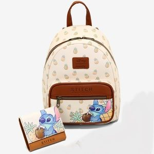 Loungefly  Lilo & Stitch Pineapple backpack&wallet